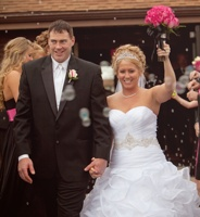 Bride and Groom exiting